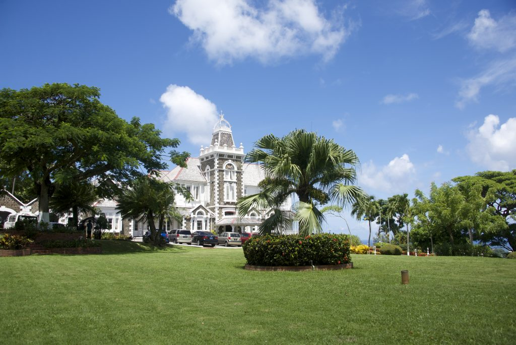 The Government House of St. Lucia, built in 1894, is now outfitted with a 5.4kw photovoltaic system to power daily operations.